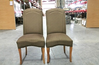 USED RV/MOTORHOME SET OF 2 OAK DINETTE CHAIRS