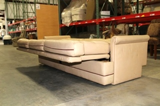USED RV/MOTORHOME VILLA INTERNATIONAL FLIP OUT SLEEPER SOFA - VANILLA LEATHER