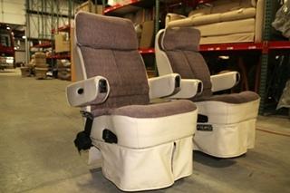 RV Furniture USED RV MOTORHOME 2 TONE CLOTH & LEATHER