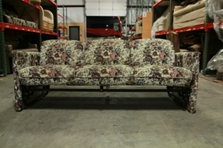 USED RV/MOTORHOME FLORAL DESIGNED SLEEPER SOFA