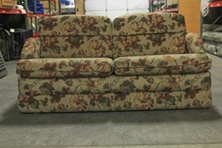 USED RV/MOTORHOME/CAMPER FURNITURE SLEEPER FLIP OUT FLORAL SOFA WITH MEMORY FOAM