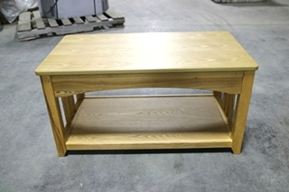 USED RV/MOTORHOME INTERIOR FLIP UP OAK TABLE