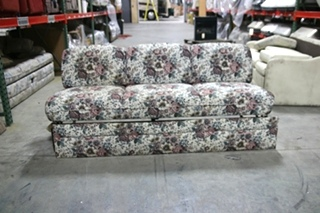 USED RV/MOTORHOME FLORAL FLIP-DOWN  SLEEPER SOFA
