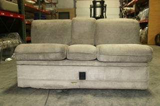 USED VILLA INTERNATIONAL RECOVERABLE SLEEPER SOFA WITH FLIP DOWN CUPHOLDER