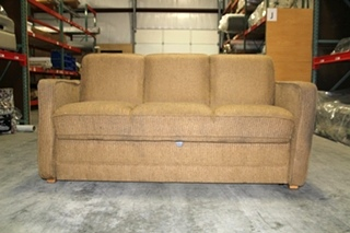 FLEXSTEEL BROWN CLOTH SLEEPER SOFA SIZE: 67.5L x 30D x 35T
