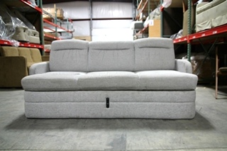 USED RV/MOTORHOME GRAY CLOTH SLEEPER SOFA SIZE: 72L x 34D x 34T