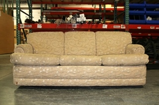 USED RV/MOTORHOM FLEXSTEEL FLORAL VANILLA SLEEPER SOFA/COUCH
