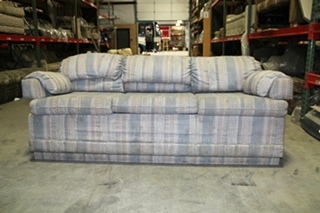 USED RV/MOTORHOME VINTAGE WINNEBAGO SLEEPER SOFA - BLUE CLOTH