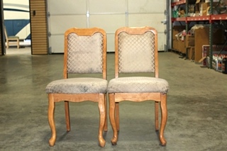 SET OF 2 RECOVERABLE RV/MOTORHOME DINETTE CHAIRS