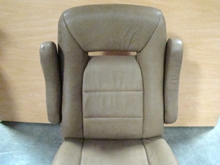 USED RV/MOTORHOME FURNITURE BROWN CAPTAIN CHAIR WITH CONTROLS ON SIDE