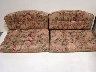 USED RV/MOTORHOME FURNITURE 4 PC DINETTE CUSHION SET (FLORAL ) FOR SALE