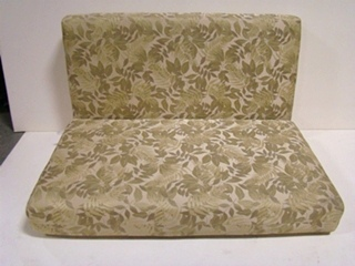 USED RV/MOTORHOME FURNITURE GREEN IVY/LEAF DINETTE CUSHION SET FOR SALE