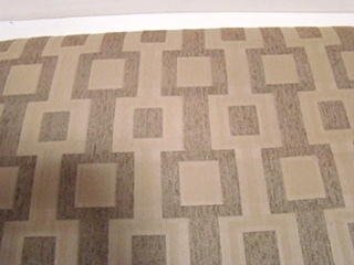 USED RV/MOTORHOME FURNITURE TAN/KHAKI MULTI BLOCK DINETTE CUSHION (ONLY) FOR SALE