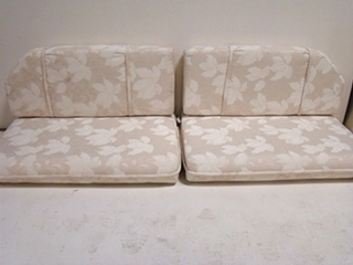 USED RV/MOTORHOME FURNITURE 4 PIECE DINETTE CUSHION SET (IVORY) FOR SALE