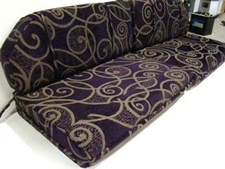 USED RV/MOTORHOME FURNITURE 4 PIECE DINETTE CUSHION SET (PLATINUM PLUM) FOR SALE