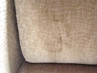 RV Furniture USED RV MOTORHOME FURNITURE TAN CLOTH JACK KNIFE FLIP DOWN SOFA FOR SALE Jack Knife