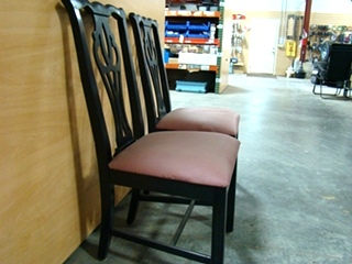 USED RV/MOTORHOME FURNITURE SET OF 2 DINETTE CHAIRS BLACK/MAUVE