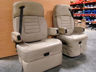 RV Furniture USED RV MOTORHOME FURNITURE TAN FLEEXSTEEL CAPTAINS CHAIRS RV Ca