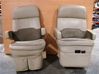 USED RV/MOTORHOME FURNITURE SET OF 2 FLEXSTEEL CAPTAINS CHAIRS FOR SALE