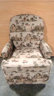 USED RV/MOTORHOME FURNITURE CLOTH RECLINER PALM TREES/ELEPHANTS FOR SALE