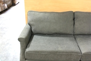 USED CHARCOAL POLYESTER FIBER SOFA FOR SALE