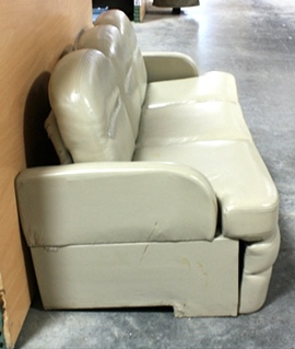 RV Furniture USED MOTORHOME VANILLA JACK KNIFE SLEEPER SOFA FOR SALE Jack Knife Couch Flip Type