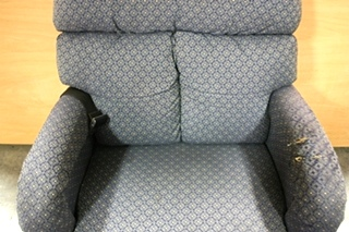 USED MOTORHOME BLUE CLOTH RECLINER FOR SALE