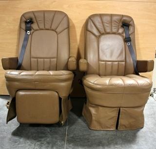 RV Furniture USED MOTORHOME BROWN LEATHER ELECTRIC CONTROL