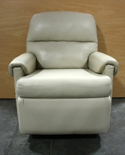 USED SOFT PLUSH LEATHER SWIVEL ROCKER RECLINER FOR SALE