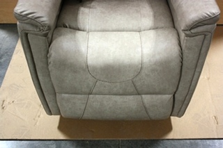 THOMAS PAYNE LEATHER VINYL SWIVEL GLIDER RECLINER SET FOR SALE