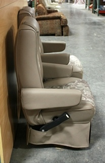 USED RV VINYL & CLOTH SET OF 2 CAPTAIN CHAIRS FOR SALE