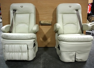 USED MONACO SET OF 2 RV CAPTAIN CHAIRS FOR SALE