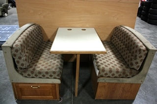 USED RV CLOTH DINETTE BOOTH FOR SALE