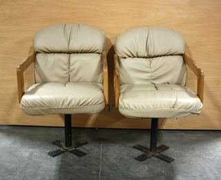 USED SET OF 2 PASSENGER SWIVEL MOTORHOME CHAIRS FOR SALE
