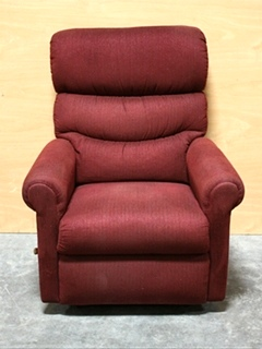 USED MOTORHOME RED CLOTH RECLINER FOR SALE