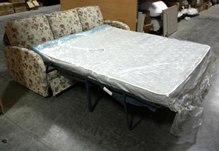USED CLOTH FLOWER PATTERN PULL OUT SLEEPER SOFA RV FURNITURE FOR SALE