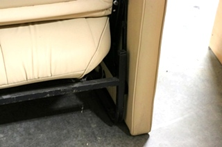USED FLIP OUT BEIGE MOTORHOME JACK KNIFE SLEEPER SOFA FOR SALE