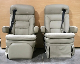 USED MOTORHOME SET OF 2 CAPTAIN CHAIRS RV FURNITURE FOR SALE