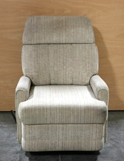 USED MOTORHOME CLOTH SWIVEL RECLINER RV FURNITURE FOR SALE