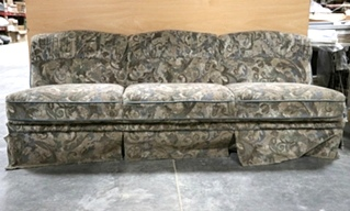 USED FLEXSTEEL CLOTH MOTORHOME JACK KNIFE SLEEPER SOFA RV FURNITURE FOR SALE