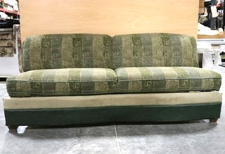 USED GREEN CLOTH RV JACK KNIFE SLEEPER SOFA MOTORHOME FURNITURE FOR SALE