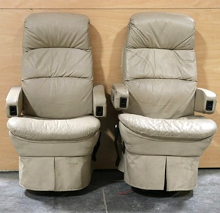 USED FLEXSTEEL RV CAPTAIN CHAIR SET FOR SALE