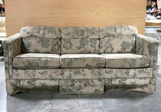 USED RV CLOTH PULL OUT SLEEPER SOFA MOTORHOME FURNITURE FOR SALE