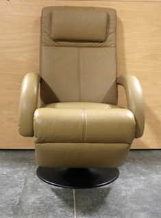 USED RV LEATHER EURO CHAIR MOTORHOME FURNITURE FOR SALE