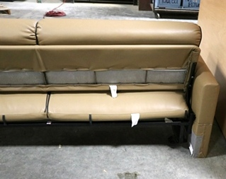 USED MOTORHOME BROWN JACK KNIFE SLEEPER SOFA RV FURNITURE FOR SALE