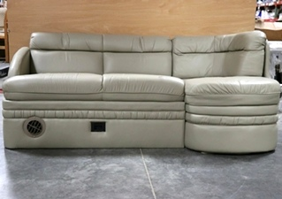 USED MOTORHOME J-LOUNGE SLEEPER SOFA WITH STORAGE DRAWER RV PARTS FOR SALE