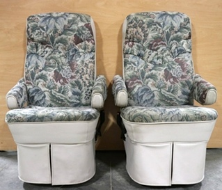USED SET OF 2 MOTORHOME FLEXSTEEL CAPTAIN CHAIRS RV FURNITURE FOR SALE