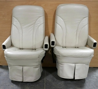 SET OF 2 USED MOTORHOME FLEXSTEEL CAPTAIN CHAIRS RV FURNITURE FOR SALE