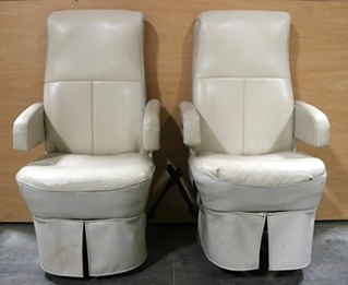 USED RV FLEXSTEEL CAPTAIN CHAIR SET MOTORHOME PARTS FOR SALE