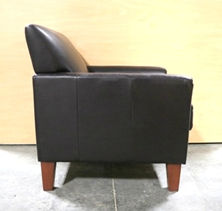 USED RV BROWN LEATHER CHAIR MOTORHOME PARTS FOR SALE